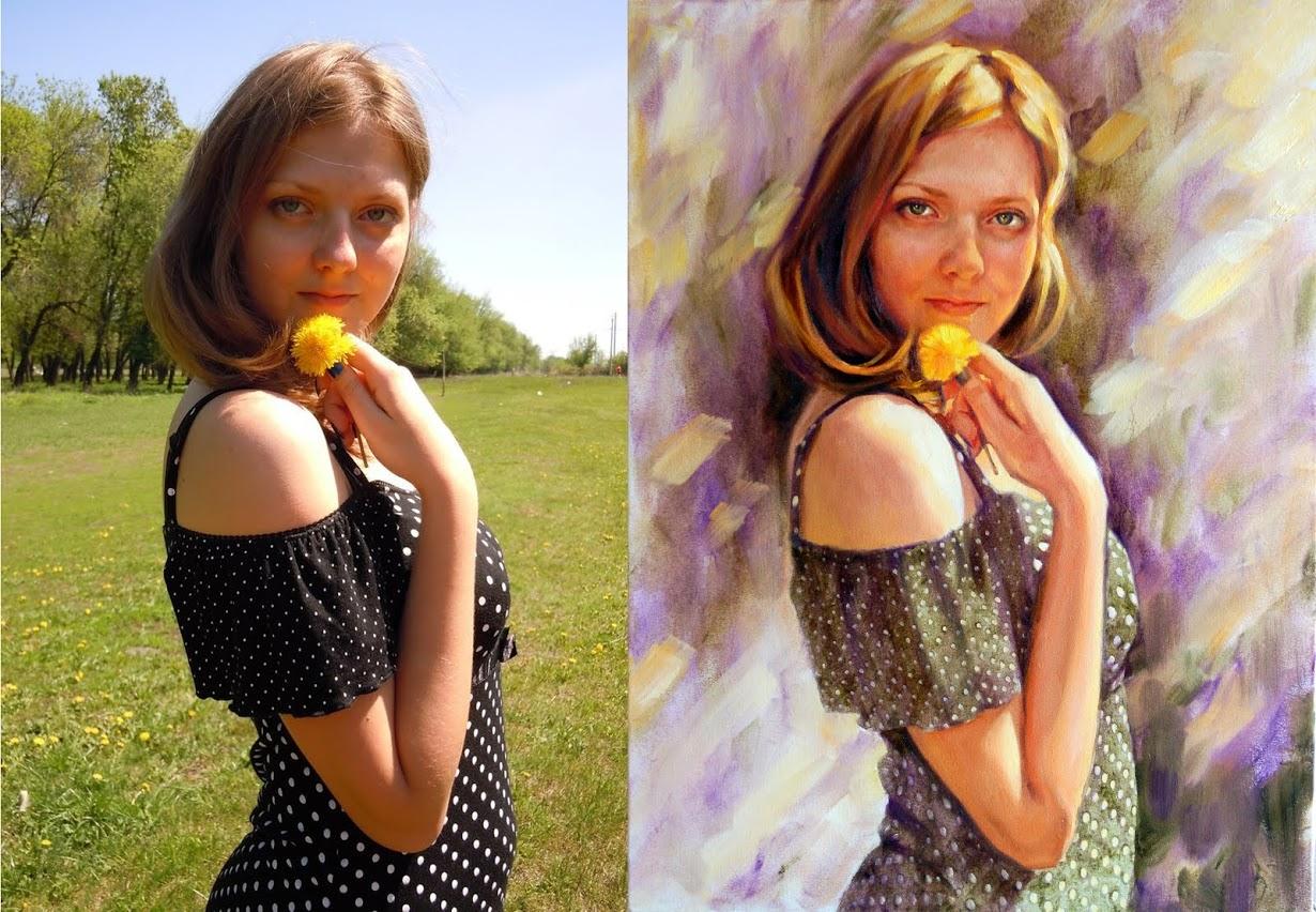 Как сделать портрет цифровой